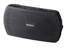 Sony AM/FM Portable Radio/Speaker by Sony. $39.23. - Sony audio transistor radio- AM/FM tuner- Sound story- Audio-in- Audio-out- Battery powered - Convenient and replaceable AA (LR6) battery power affords up to 45 hours of FM radio or 74 hours of Audio input playbackSYSRF18