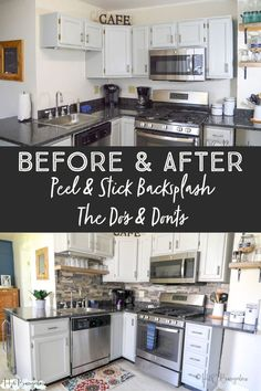 Video tutorial with a step by step process on how to install peel and stick backsplash, and what to expect with wear and tear of the product. Peel Stick Backsplash, Peel And Stick Tile, Stick On Tiles, Do It Yourself Decorating, Do It Yourself Home, Decorating On A Budget, Diy Home Decor Projects, Cool Diy Projects, Small Space Kitchen