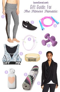 LaurenConrad.com's gift guide for the fitness fanatic in your life.