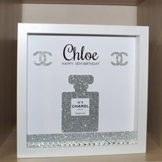 Personalised Birthday shadow box frame gift 18th 21st 30th