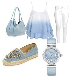 """""""summer"""" by pennyandroulidaki on Polyvore featuring H&M, René Caovilla and OMEGA"""