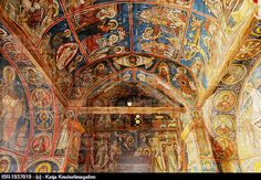 900-year-old wall paintings in the Greek Orthodox church Panagia Phorbiotissa, UNESCO World Heritage Church, Asinou, Troodos Mountains, Southern Cyprus, Cyprus. Image Code: IBR-1937019. Photographer: Katja Kreder/imagebro. Collection: imagebroker. Rights Managed -  http://www.agefotostock.com/en/Stock-Images/Rights-Managed/IBR-1937019
