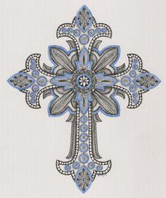 Doodles Zentangles, Zentangle Patterns, Cross Tattoo Designs, Cross Designs, Cross Coloring Page, Coloring Pages, Christian Cross Images, Cross Drawing, Cross Tattoos For Women