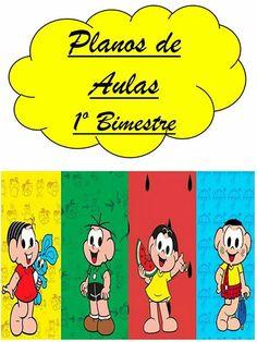 Planner para professor 2018 - Turma da Mônica Winnie The Pooh, Disney Characters, Fictional Characters, Comics, Planner 2018, Ely, Montessori, Planners, Cucumber