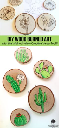 Wood Burning Illustrations with the Creative Versa Tool by @walnut hollow  #sponsored
