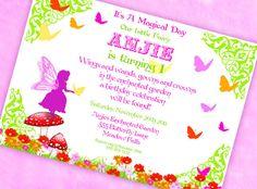Fairy and Butterfly Garden Fairy Invitation - Garden Fairy Collection - Gwynn Wasson Designs PRINTABLES. $15.00, via Etsy.