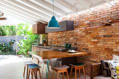 11 cozinhas com materiais econômicos para construir a sua (De Josi Monteiro - homify)