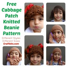 Knit your own fun Cabbage Patch hair style beanie. Great for costumes or just for fun.