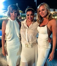 #BELLAWhiteParty2015 with PurseN's CEO Hardeep & the Real Housewives of Beverly Hills stars, Lisa Rinna & Eileen Davidson!