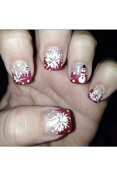 Holiday Nail Art - Frosty The Snowman @b - yournailart.com/... - #nails #nail_art #nails_design #nail_ ideas #nail_polish #ideas #beauty #cute #love