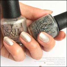 OPI Champagne for Breakfast over OPI Five-and Ten (Holiday Funky Nail Art, Funky Nails, Opi Nail Polish, Opi Nails, Manicures, Fabulous Nails, Perfect Nails, Fall Nails 2016, Spring Nails