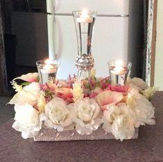 Flower box creation for a wedding centerpiece