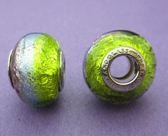 c45c6ee7e New 14mm x 12mm Perlavita European Style Tri-colour Murano Glass Rondelle  Spacer Bead with 925 Sterling Silver Core Insert 1pc