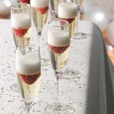 Jellied Champagne Dessert Recipe - Would be cute for  Valentine's Day
