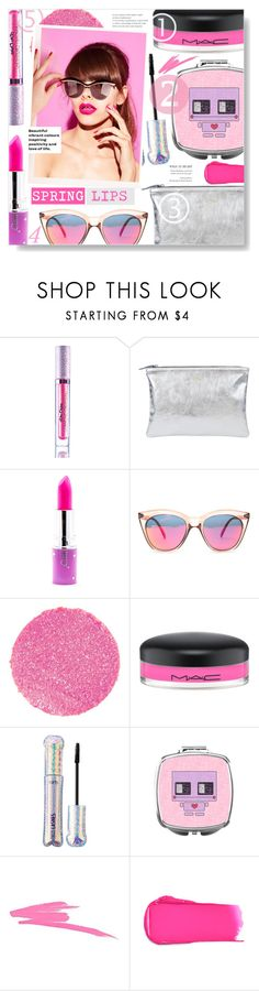 """Perfect Pout: Spring Lips"" by chocolate-addicted-angel ❤ liked on Polyvore featuring beauty, Lime Crime, Shaffer, Le Specs, Surratt, MAC Cosmetics, tarte, NARS Cosmetics and Rossetto"