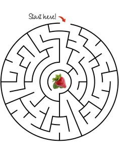 Maze : Get the strawberry (easy)
