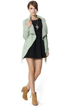 #Chicwish Snowflake Knit Drape Cape - Tops - Retro, Indie and Unique Fashion