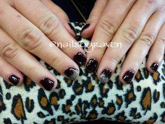 Gel Manicure in Plum Raven by IBD