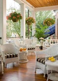 A beautiful porch at Saratoga Arms, a Saratoga Springs, NY #bed and breakfast.