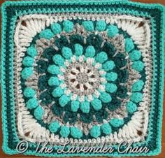 Wildflower Roundabout Mandala Square - Free Crochet Pattern - The Lavender Chair (6)