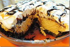 Peanut-butter Pie.  Chocolate and Peanut-butter my two favorite things!