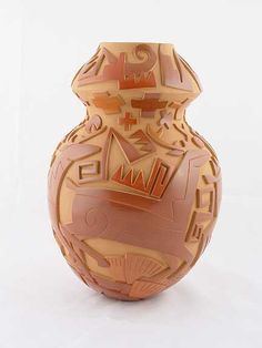 Tammy Garcia - Blue Rain Gallery / Santa Fe New Mexico Stunning carving and sgraffito