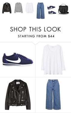 """Untitled #3599"" by memoiree ❤ liked on Polyvore featuring NIKE, Rebecca Taylor, Acne Studios and Topshop"