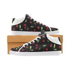 "Sneakers ""Cherry "" Chukka Sneakers, Cherry, Creations, Converse, Shoes, Women, Fashion, Purse, Tennis"