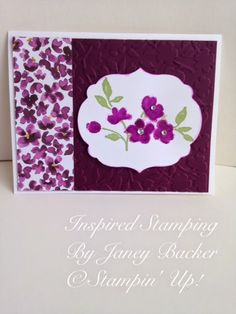 Inspired Stamping by Janey Backer: Painted Petals Watercolors, Stampin' Up!, Occasions