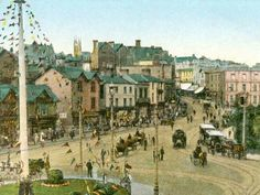 AMAZING PAINTING OF HOW BOURNEMOUTH SQUARE USED TO BE. City Photography, Wedding Photography, Amazing Paintings, Bournemouth, London Wedding, Love Photos, Buses, Old Houses, Big Day