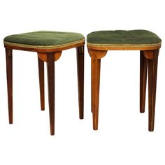 Pair of Thonet Stools Attributed to Otto Prutscher | From a unique collection of antique and modern stools at https://www.1stdibs.com/furniture/seating/stools/