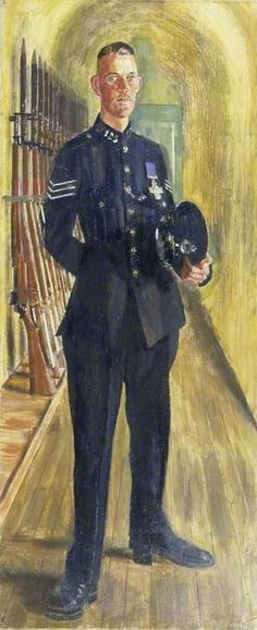 Section Leader Brandon Moss, GC, of Coventry, 1941 by Alfred Reginald Thomson (British 1894–1979)