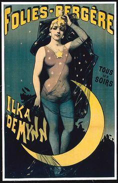 Old French cabaret poster Vintage Advertisements, Vintage Ads, Vintage Images, French Vintage, Poster Ads, Advertising Poster, Cabaret, Belle Epoque, Cirque Vintage