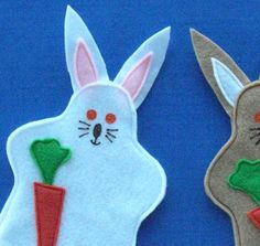 Bunny Rabbit Puppet Party Favor $3.50 each. quantity discounts, Handpuppet, Party Toy - pinned by pin4etsy.com