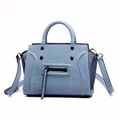 59.95$  Buy here - http://ali1cj.worldwells.pw/go.php?t=32759196969 - New Blue Smile Genuine Leather Crossbody Handbags Popular Fashion Satchel Handbags Real Leather Messenger Bags Totes