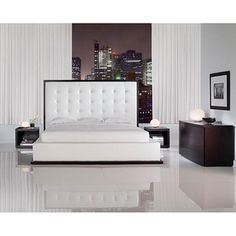 @Overstock - The awe-inspiring Ludlow King leather bed commands instant attention when entering a room. The lavish button-tufted leather headboard stands five feet tall and is elegantly framed in a rich espresso border to match any decor.http://www.overstock.com/Home-Garden/Ludlow-King-Platform-Bed/5141354/product.html?CID=214117 $1,552.50