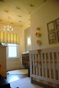 News and Pictures about vintage baby room Baby Rooms: baby nursery design ideas, vintage baby nursery Nursery Rooms Baby Nursery Inspire Swe. Bird Nursery, Yellow Nursery, Nursery Neutral, Nursery Room, Kids Bedroom, Baby Room, Bedroom Decor, Themed Nursery, Neutral Nurseries
