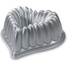 Nordic Ware Elegant Heart Bundt, Silver