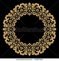 Decorative line art frame for design template. Elegant vector element for design in Eastern style, place for text. Lace illustration for invitations and greeting cards Pattern Art, Pattern Design, Casting Wax, Alpona Design, Decorative Lines, Tanjore Painting, Letter Stencils, Damask Wallpaper, Hand Art