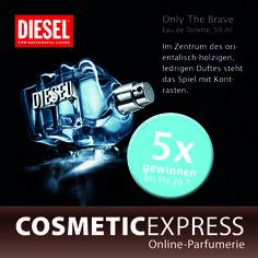 #Gewinnspiel auf #facebook #Diesel #onlythebrave Brave, Diesel, Facebook, Movie Posters, Movies, Eau De Toilette, Perfume Store, Diesel Fuel, 2016 Movies