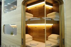 Definitely not a room with a view: First capsule hotel with fifty windowless pods opens in Moscow * Rooms can be booked for a night for around £ 32, or for a matter of hours * Already a hit in Japan, capsule hotels are popular with commuters who miss the last train home --- (I've always found these fascinating.)