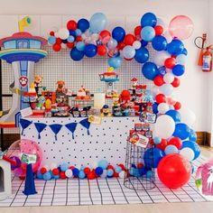 Paw Patrol Birthday Party Ideas - PARTYLOVIN Paw Patrol Birthday Decorations, Paw Patrol Birthday Theme, Paw Patrol Balloons, Cars Birthday Parties, 3rd Birthday, Birthday Ideas, Paw Patrol Cake, Party Ideas, Indoor Activities
