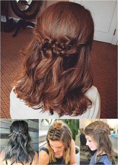 braided half updos for medium hair