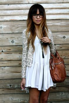 leopard and floaty dress <3