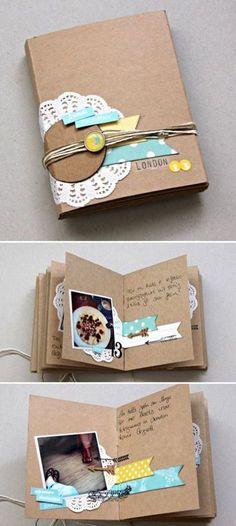 scrapbook books love the craft album with a few simple colours cheap scrapbooks Mini Album Scrapbook, Mini Albums Scrap, Scrapbook Journal, Scrapbook Cover, Book Making, Card Making, Handmade Books, Diy Birthday, Bookbinding