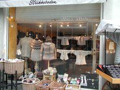 One of the smallest yarn shops in Copenhagen: Strikkeboden.