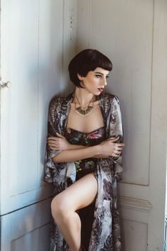 Department of Curiosities Tropical Dressing Gown and Bra Set