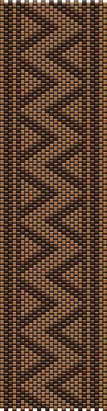 Manchette, brun et bronze