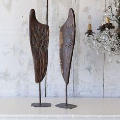 Rough Luxe Decor: antique carved wings -