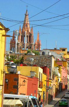 Views of the Parroquia, San Miguel de Allende     http://bbqboy.net/changing-mind-san-miguel-de-allende-mexico/